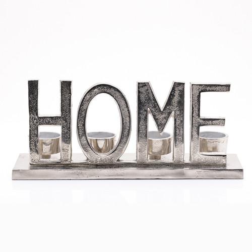Metal 'Home' Tealight Holder 31cm