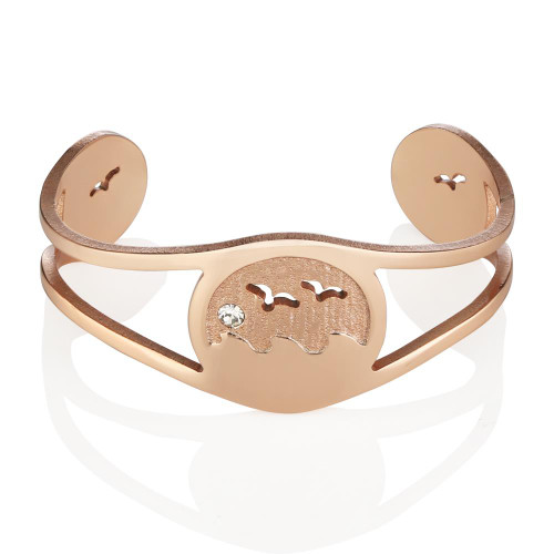 Ocean Rose Gold Bangle