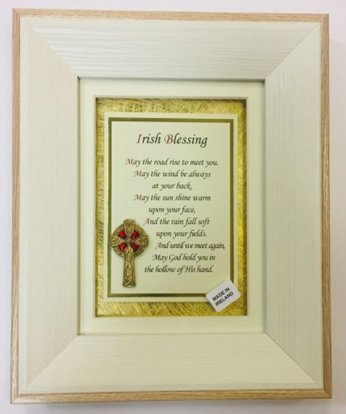 Framed Irish Blessing Verse