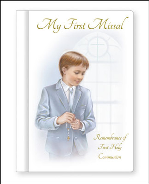 Communion hard book Missal with a Boy.