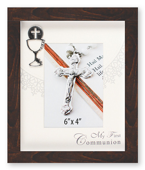 Communion Photo Frame in Brown