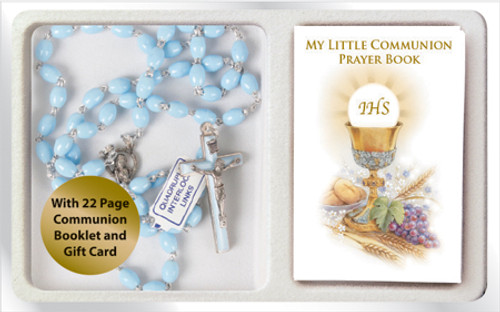 Communion Rosary set in Blue