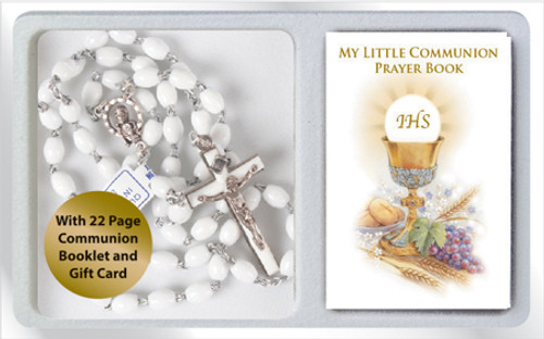 Communion White Rosary set