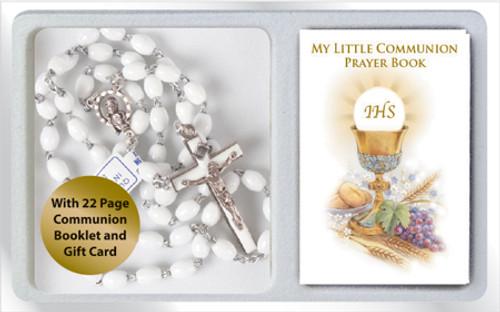 Communion White Rosary set