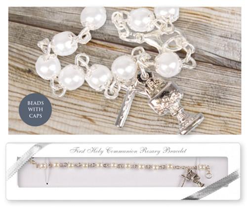 Communion Rosary Bracelet