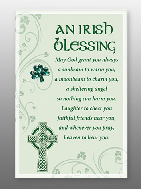 Glass Plaque An Irish Blessing