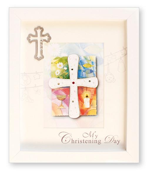 White Christening Frame