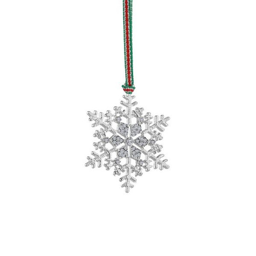 Snowflake Clear Stones Decoration
