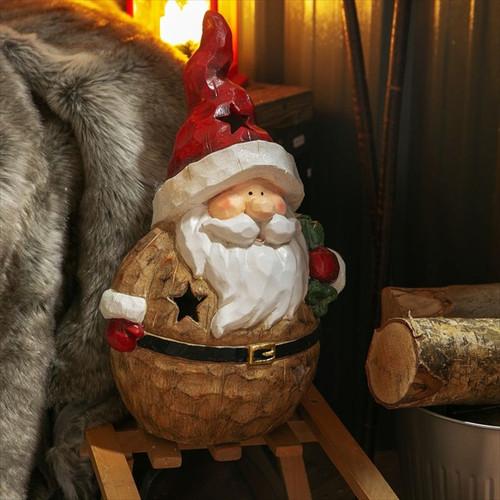 Freestanding Santa Tealight Ornament