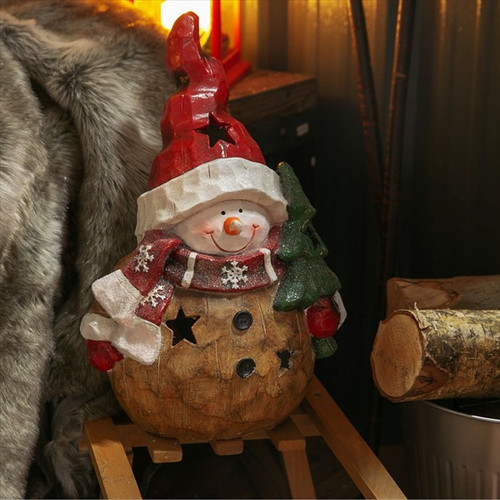 Freestanding Snowman Tealight Ornament