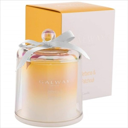 Galway Crystal Verbena & Patchouli Scented Bell Jar Candle