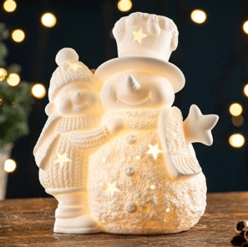 Belleek Living Pair of Snowmen