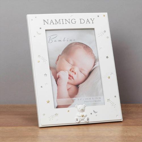 Bambino Resin Resin Naming Day Frame