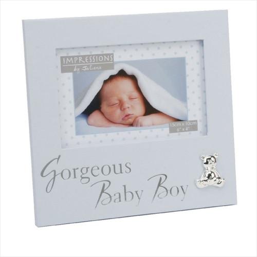 """Gorgeous Baby Boy"" Textured Frame"