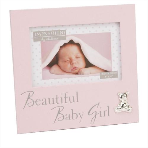 """Gorgeous Baby Girl"" Textured Frame"
