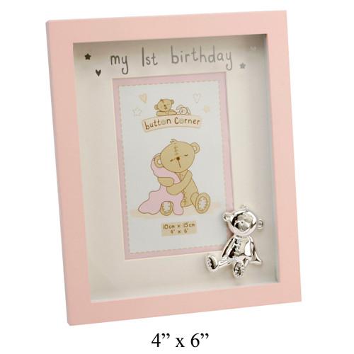 Baby Girl's My First Birthday Frame
