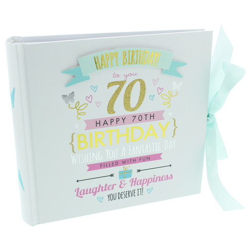 70th Birthday  Pink and Gold Album