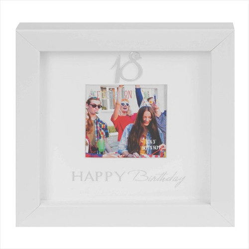 18th Birthday Box Photo Frame