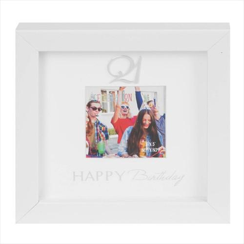21st Birthday Box Photo Frame