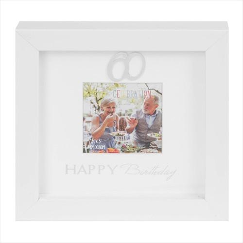 60th Birthday Box Photo Frame