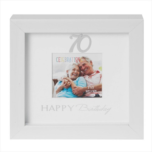 70th Birthday Box Photo Frame