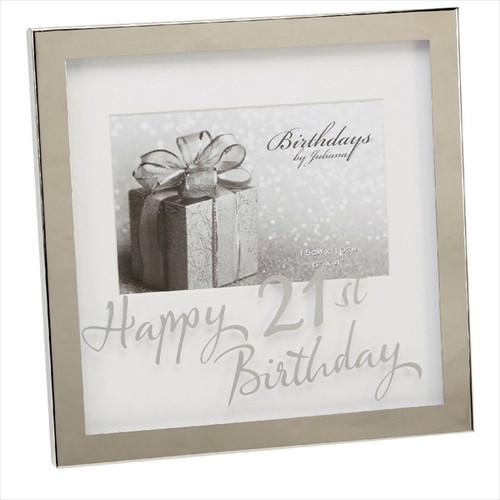 21st Birthday Silver Plated Box Frame
