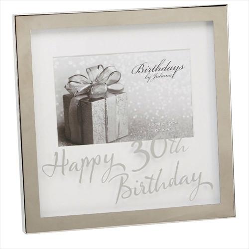30th Birthday Silver Plated Box Frame