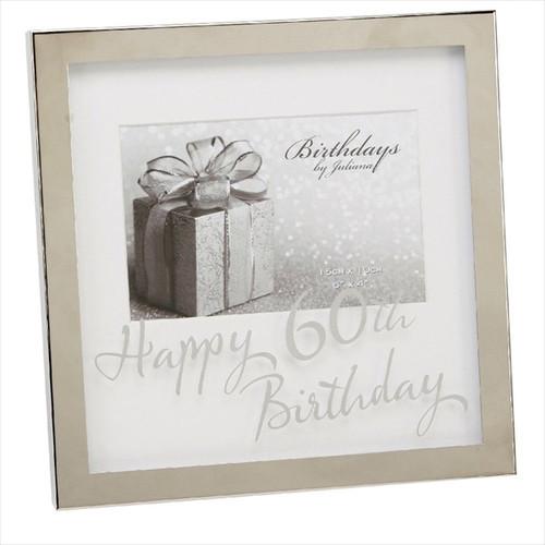 60th Birthday Silver Plated Box Frame
