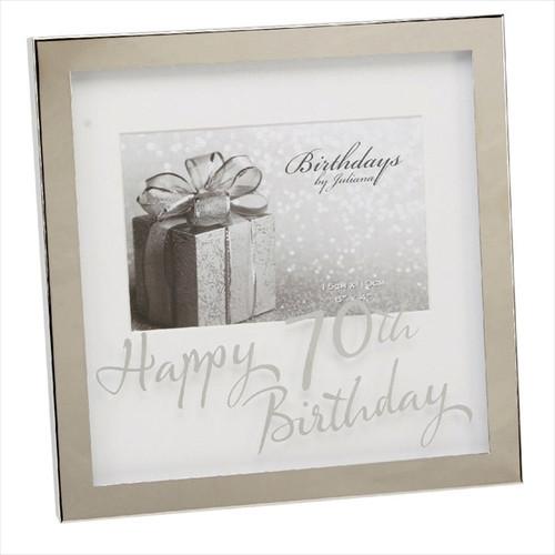 70th Birthday Silver Plated Box Frame