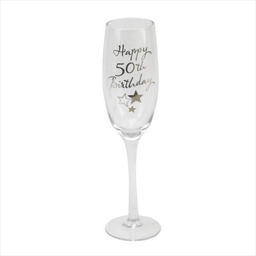 50th Birthday Champagne Glass