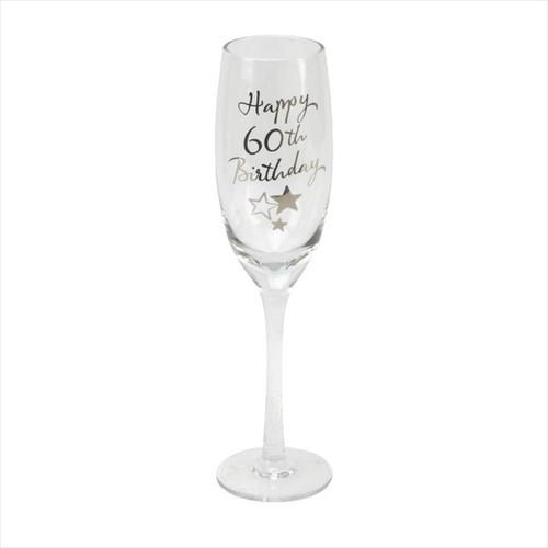 60th Birthday Champagne Glass