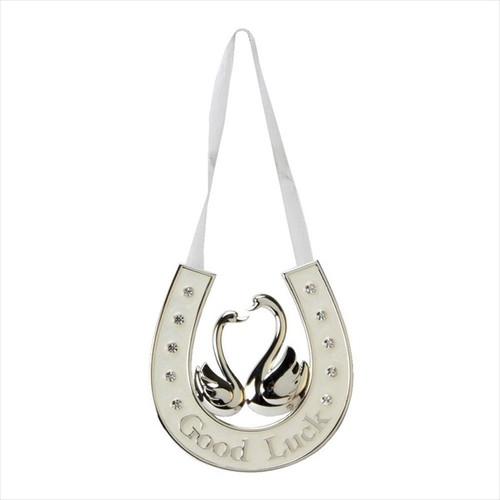 Silver & Cream Good Luck Wedding Horseshoe