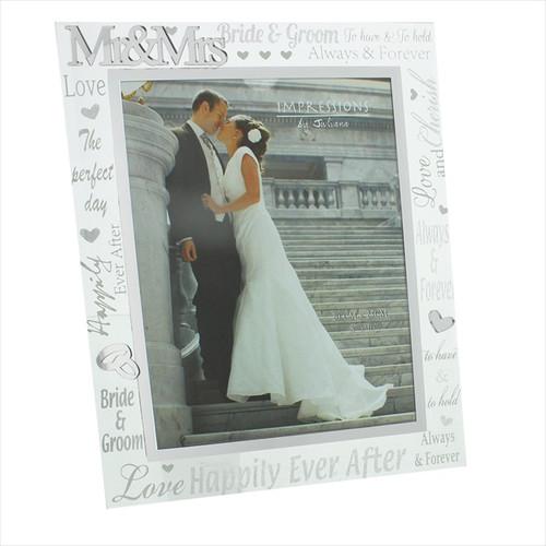 3D Glass Wedding Frame