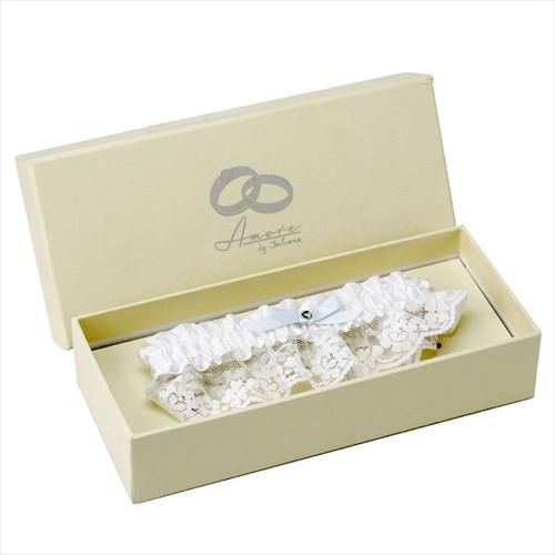 White Wedding Garter