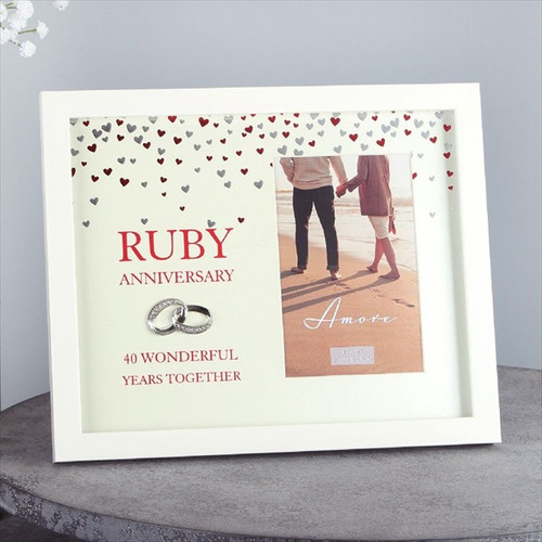 40th Ruby Anniversary Showered with Love Frame