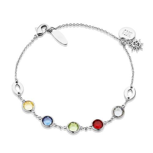 Silverplate Bracelet Coloured Stone