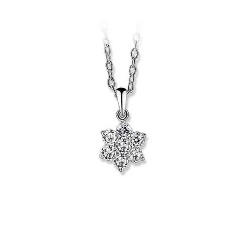 Floral Cup Pendant Clear