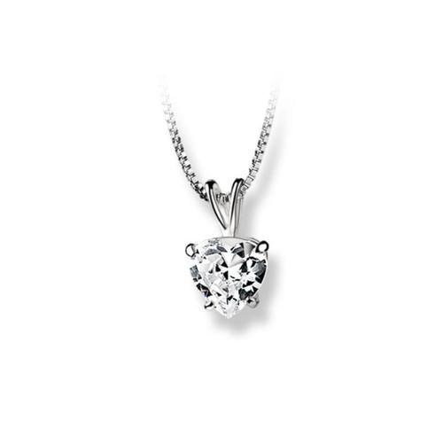 Heart Pendant Clear Stone