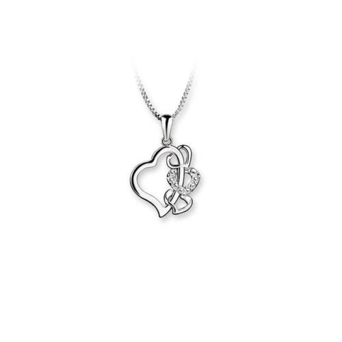 Multi Heart Pendant Clear
