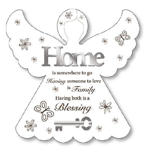 Wooden Angel Plaque/Home Blessing