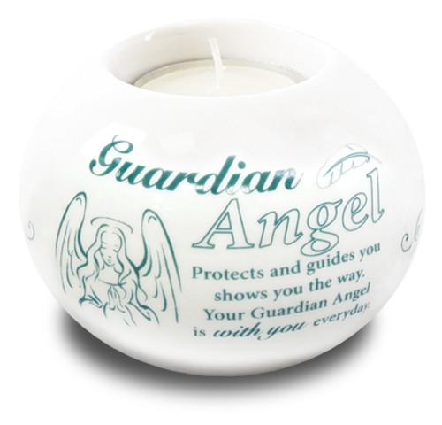 Porcelain Candle Holder/Guardian Angel