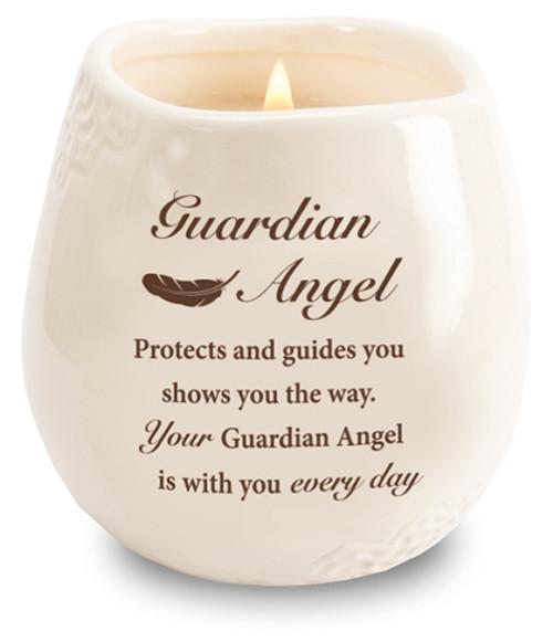 Stoneware Jar/Soy Wax Candle/Guardian Angel
