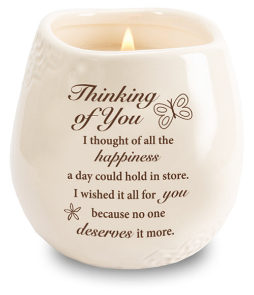Stoneware Jar/Soy Wax Candle/Thinking of You