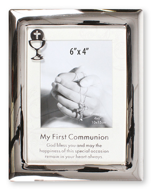 Silver Communion Photo Frame