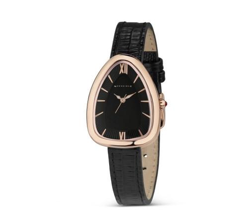 Ladies Black Triangular Watch