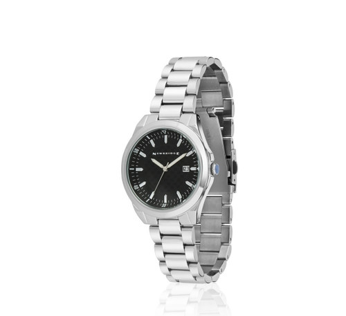 Mens Watch With Black Dial And Link Bracelet