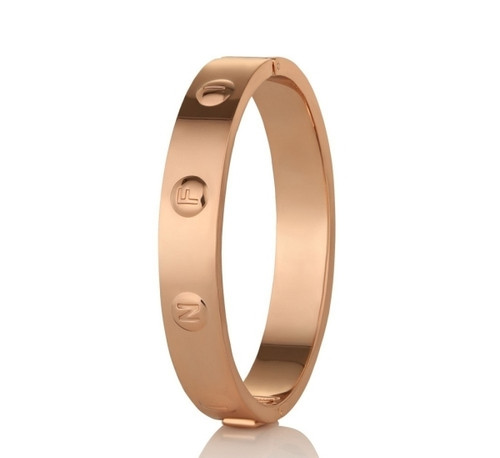 Rose Gold Plate Infinity Bangle