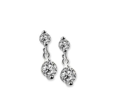 Drop Earrings Clear Stone