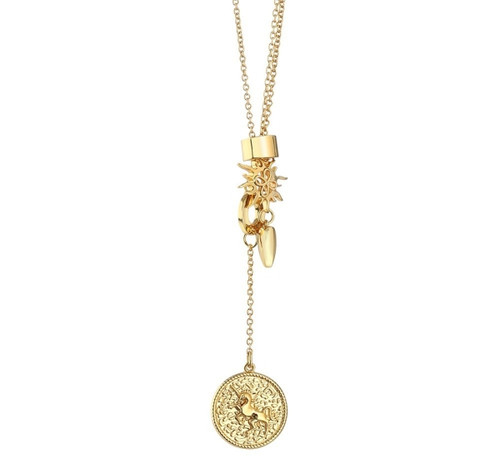 Charms Necklace With Coin