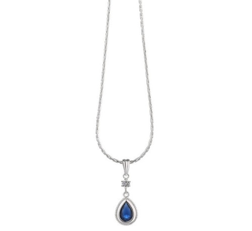 Drop Pendant Sapphire Blue Stone